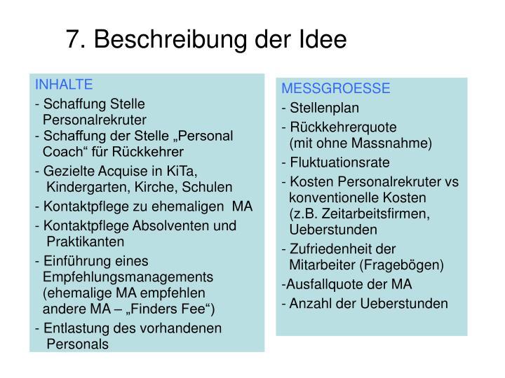 7. Beschreibung der Idee