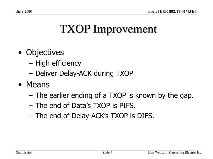 TXOP Improvement