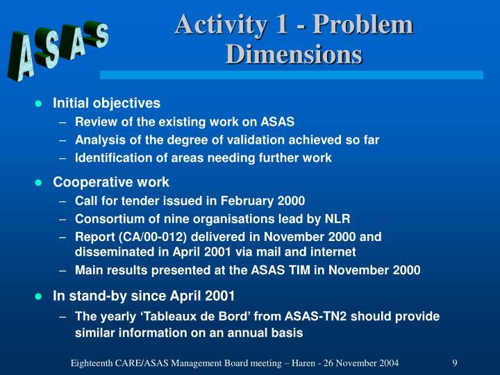 Activity 1 - Problem Dimensions