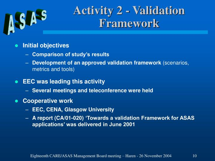 Activity 2 - Validation Framework
