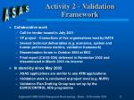 activity 2 validation framework1