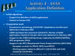 activity 4 asas application definition