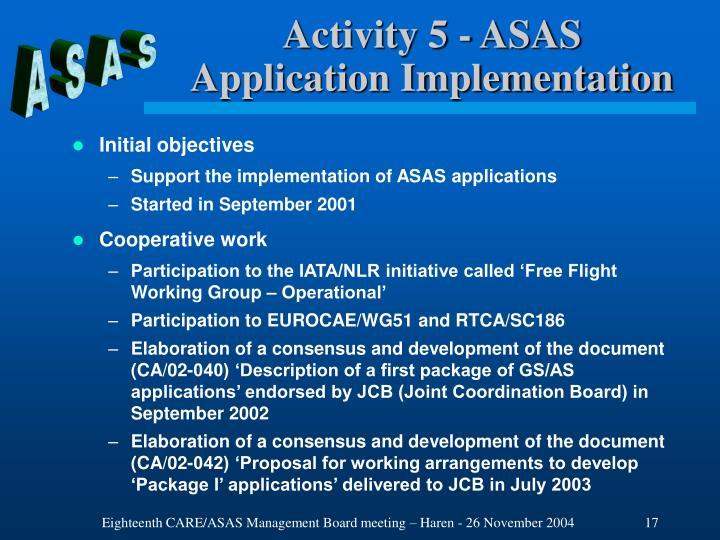 Activity 5 - ASAS