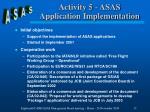 activity 5 asas application implementation