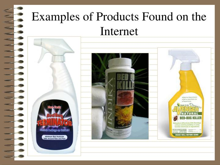 Examples of Products Found on the Internet