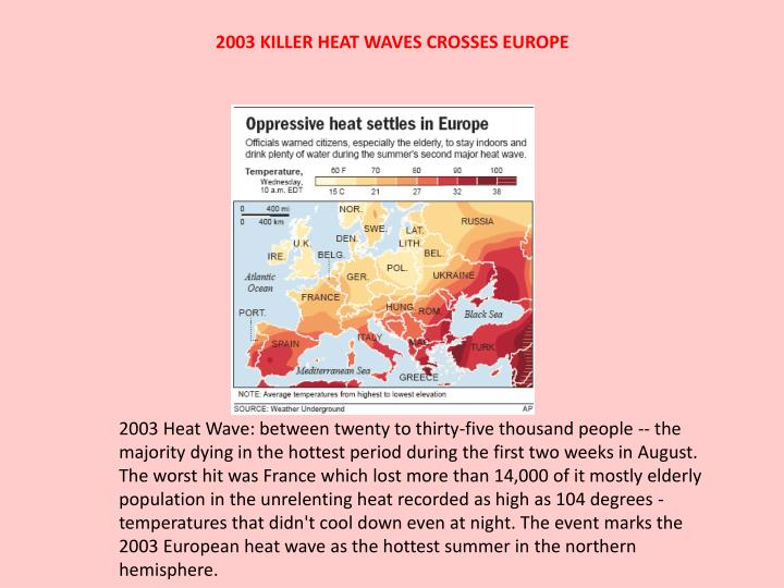2003 KILLER HEAT WAVES CROSSES EUROPE
