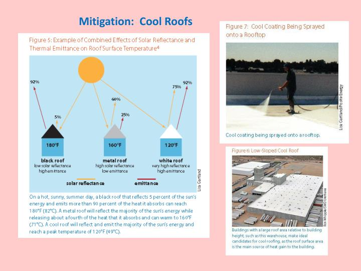 Mitigation:  Cool Roofs