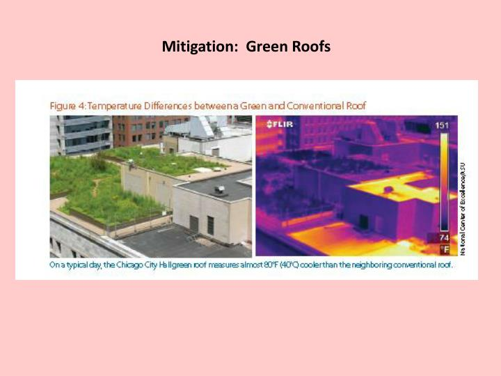Mitigation:  Green Roofs