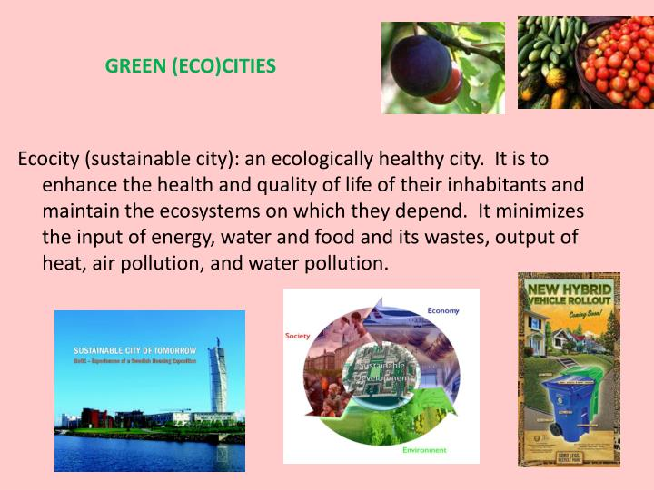 GREEN (ECO)CITIES