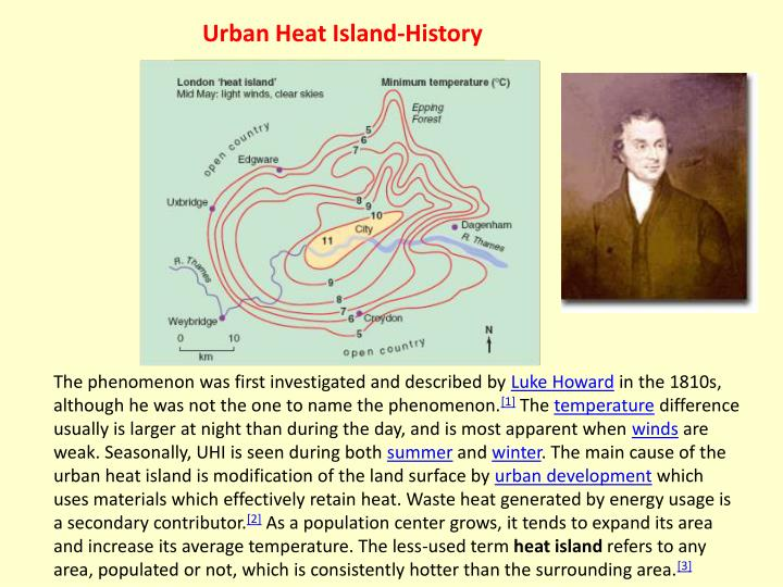 Urban Heat Island-History