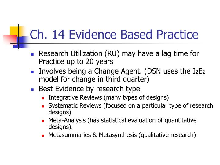 Ch. 14 Evidence Based Practice