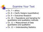 examine your text