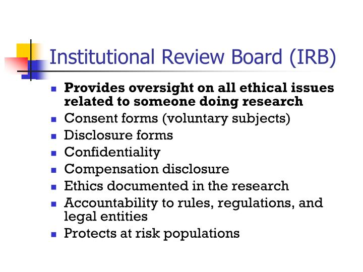 Institutional Review Board (IRB)