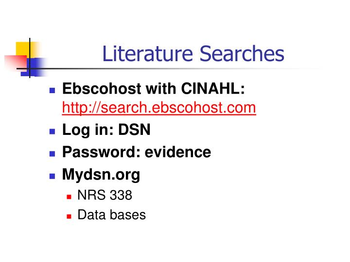 Literature Searches