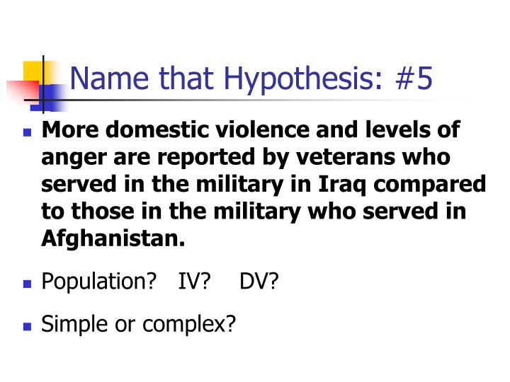 Name that Hypothesis: #5