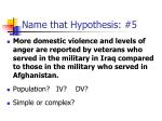 name that hypothesis 5