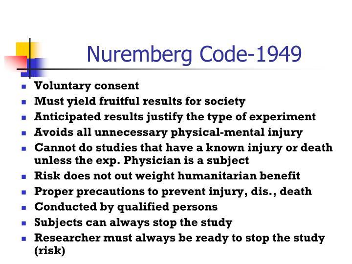 Nuremberg Code-1949