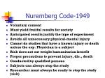nuremberg code 1949