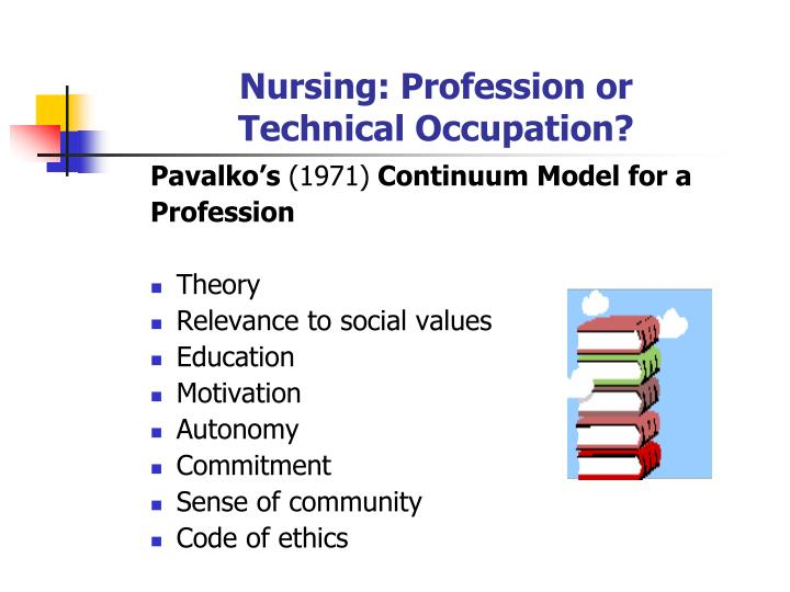 Nursing profession or technical occupation