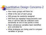 quantitative design concerns 2