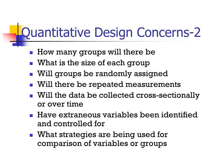Quantitative Design Concerns-2