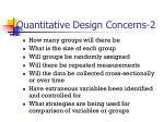 quantitative design concerns 21
