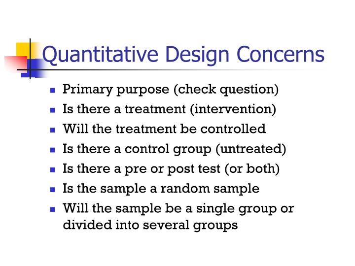 Quantitative Design Concerns