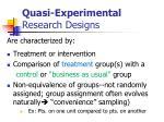 quasi experimental research designs