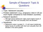 sample of research topic questions