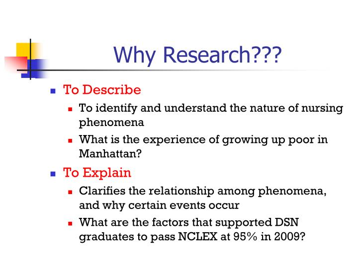 Why Research???
