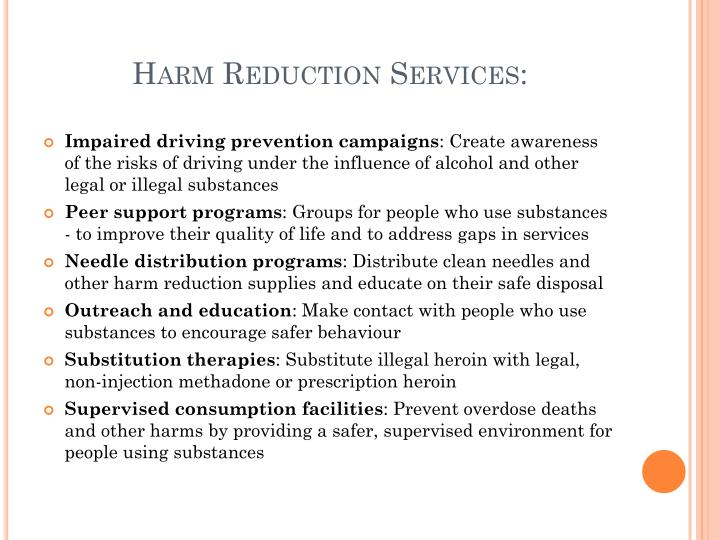 Harm Reduction Services: