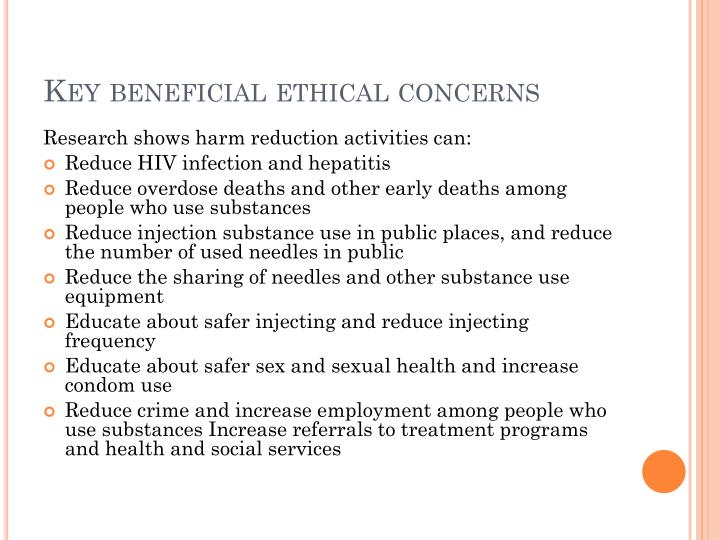Key beneficial ethical concerns