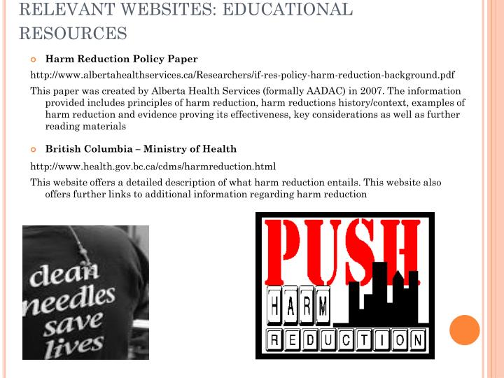 RELEVANT WEBSITES: EDUCATIONAL RESOURCES