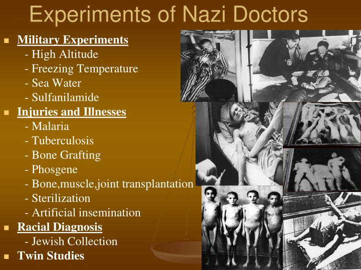 Experiments of Nazi Doctors