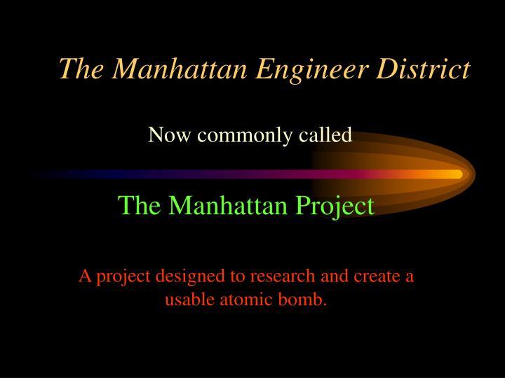 The Manhattan Engineer District