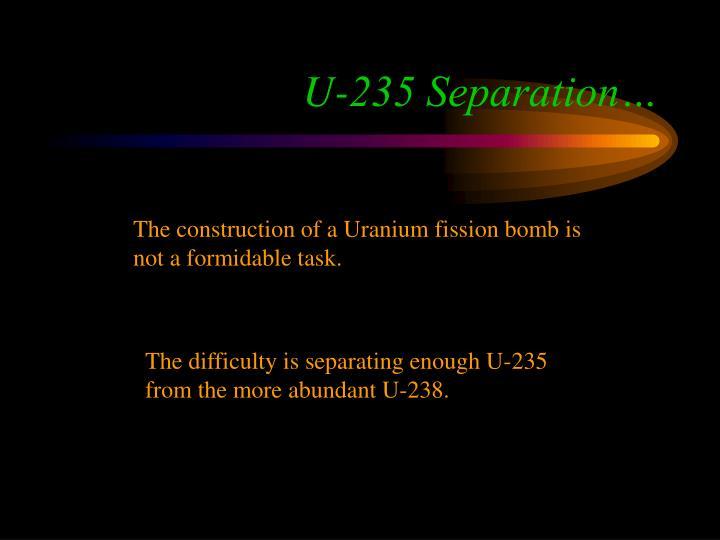 U-235 Separation…