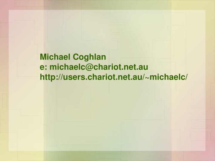 Michael Coghlan