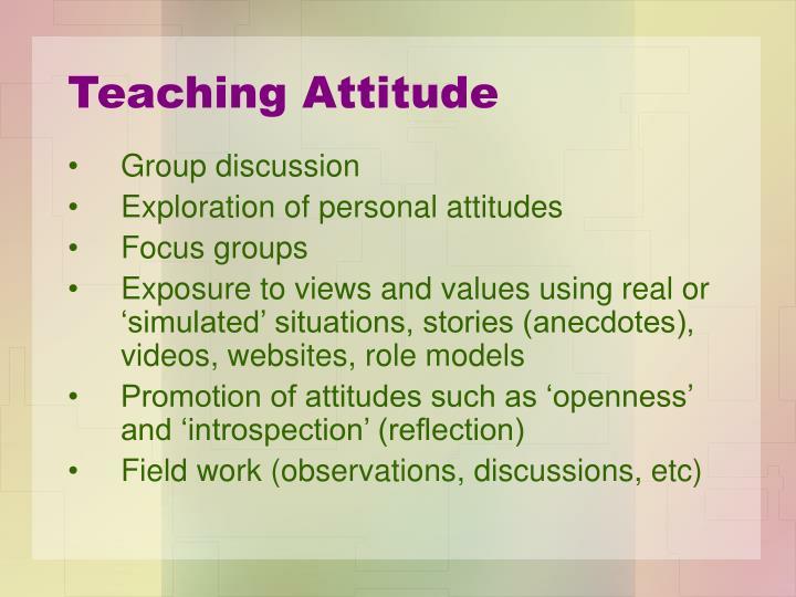 Teaching Attitude