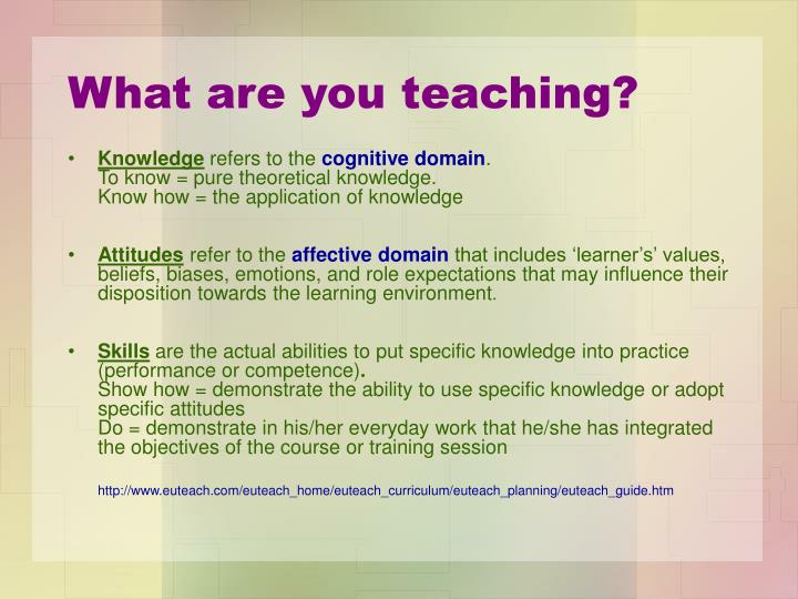 What are you teaching?