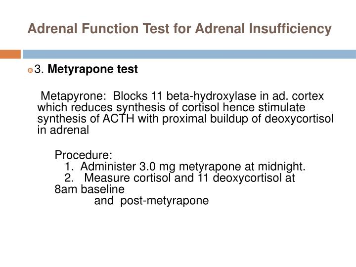 Adrenal Function Test for Adrenal Insufficiency