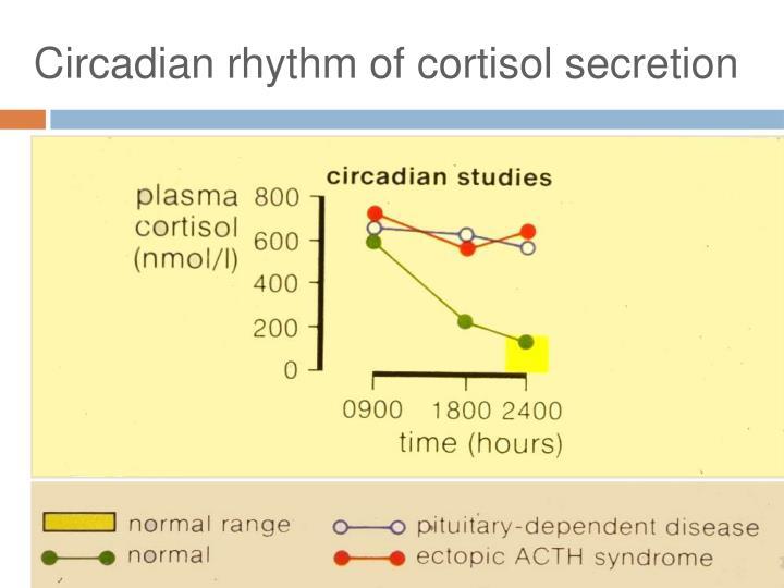 Circadian rhythm of cortisol secretion