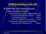 gsbug hardware info sig12