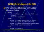 gsbug hardware info sig14