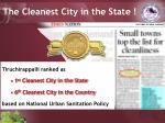 the cleanest city in the state