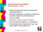 bio koloogiline paradigma bronfenbrenner 1996