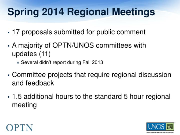 Spring 2014 Regional Meetings