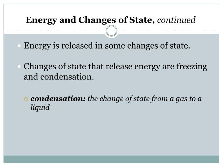 Energy and Changes of State,
