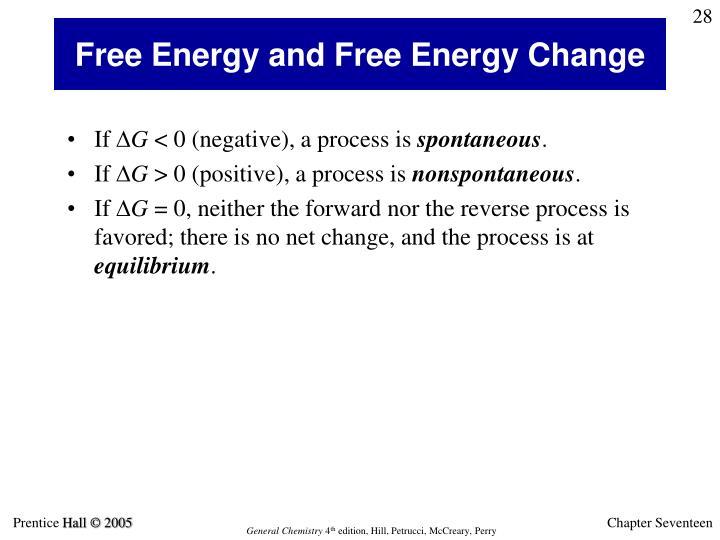 Free Energy and Free Energy Change