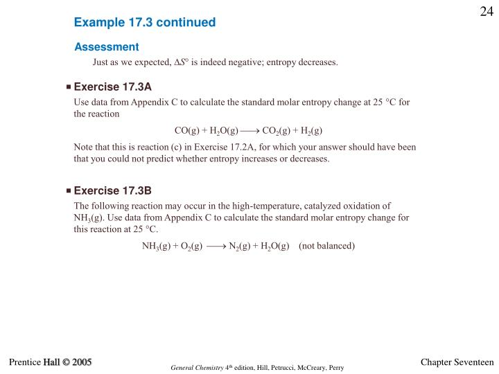 Example 17.3 continued
