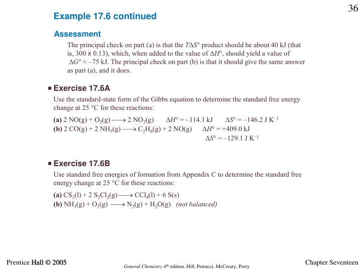 Example 17.6 continued